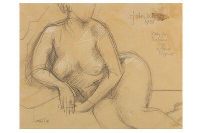 JOHN SKELTON, 'Study for reclining torso in Cornish Polyphant'