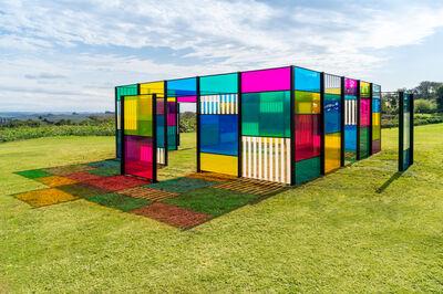 Daniel Buren, 'The Exploded Hut: homage to Oscar Niemeyer, situated work', 2015