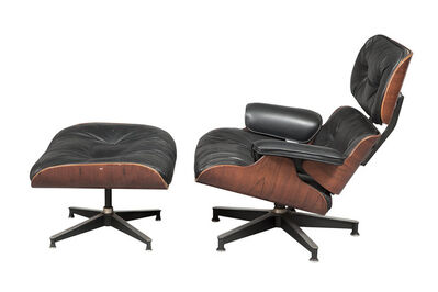 Charles Eames, 'Charles and Ray Eames Rosewood 670 Lounge Chair and 671 Ottoman', 1960