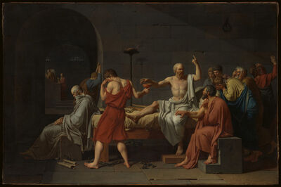 Jacques-Louis David, 'The Death of Socrates', 1787