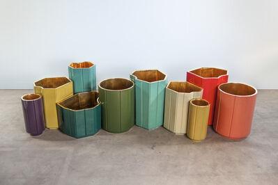 India Mahdavi, 'vases landscapes gold series'