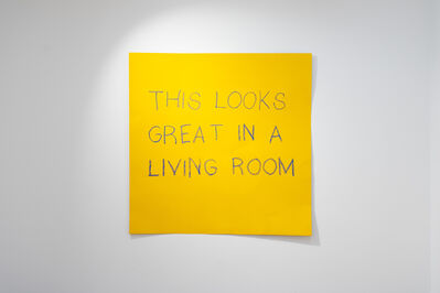 Daniele Sigalot, 'Your living rooms wants it', 2019