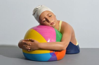 Carole A. Feuerman, 'Miniature Brooke with Beach Ball', 2019
