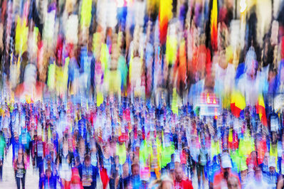 Mitchell Funk, 'New York City Marathon Runners Blur', 2019