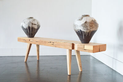 Nate Cassie, 'Twin vessels with a landscape reflecting the moon', 2021