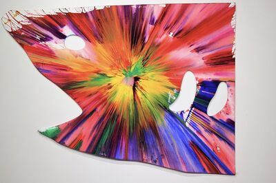Damien Hirst, 'Shark Spin Painting - Hand signed.', 2009