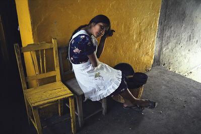William Albert Allard, 'Girl in a yellow chair, Oaxaca, Mexico 1980', 1980