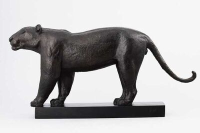 Georges-Lucien Guyot, 'Lion at the Stop', ca. 1930
