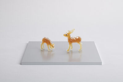 Kohei Nawa, 'PixCell-Toy-Deer (couple)', 2020