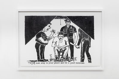 Andrea Bowers, ' Fascist Police (Inside Eastside 1968 no.14, pg 7) '