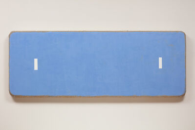 Otis Jones, 'Blue with 2 White Rectangles Far Apart', 2019