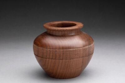 Dan Chevalier, 'Texture banded walnut vase', 2020