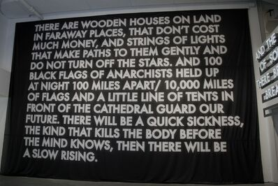 Robert Montgomery, 'There are Wooden Houses on Land (Flag)', 2013
