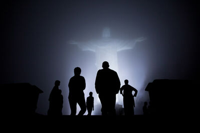 Pete Souza, 'President Barack Obama, First Lady Michelle Obama, and daughters Sasha and Malia, tour the Christ the Redeemer statue in Rio de Janeiro', 2011