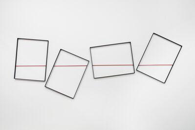 Grazia Varisco, 'Quadri comunicanti filo rosso', 2010