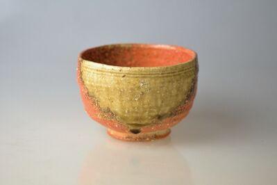 Takahashi Rakusai IV, 'Shigaraki Tea Bowl with Excellent Bidoro Glaze Drop', 20th Century