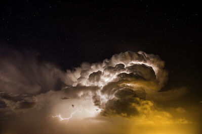Eric Meola, 'Heat Lightning and Stars. Burlington, Colorado', 2014
