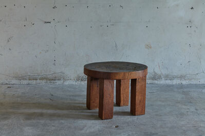 José Zanine Caldas, 'Hand-carved side table in solid wood', 1970s