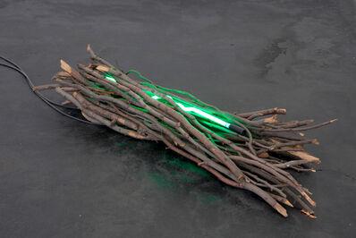 Jan Dibbets, 'Holzobjekt mit Neonröhre', 1968