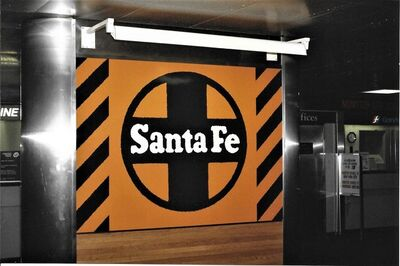 Robert Cottingham, 'Santa Fe, Unique Panel from the Union Train Station Installation in Hartford, Conn.', 1987