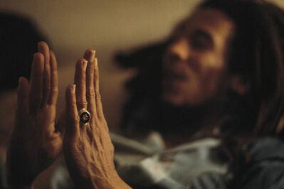 David Burnett, 'Star of David, Bob Marley at home (Tuff Gong) in Kingston, Jamaica', 1976