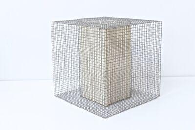 Rakuko Naito, 'RNcube2-99 Wire Mesh with Paper Cube', 1999