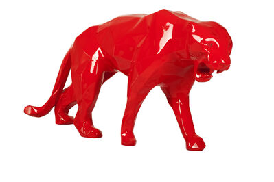 Richard Orlinski, 'Rouge Wild Panther', 2019