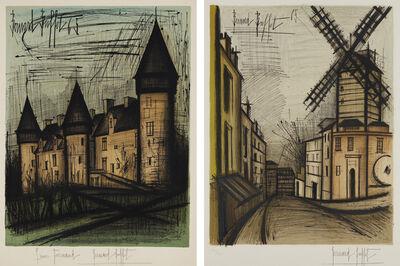 Bernard Buffet, 'Le château de Culan (Culan Castle); and Le Moulin de la Galette, by Charles Sorlier', 1965