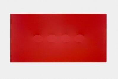 Turi Simeti, 'Quattro ovali rosso', 2015