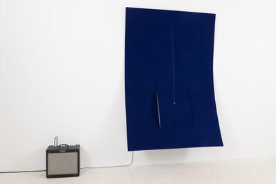 Naama Tsabar, 'Work on Felt (Variation 21) Dark Blue', 2019