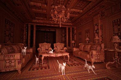 Farid Rasulov, 'Carpet Interiors, Cats', 2014