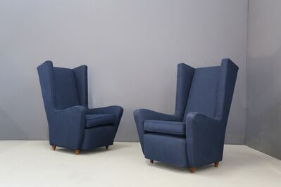 Paolo Buffa, 'Pair of Midcentury Armchairs Paolo Buffa in Cotton Linen Fabric, 1950s', 1950-1959