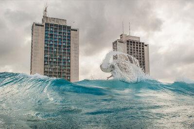 Guillermo Cervera, 'A surfer named Umbert near 70th Street, Havana, Cuba.'