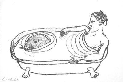 Stephan Balkenhol, 'Mann in der Badewanne', 1993