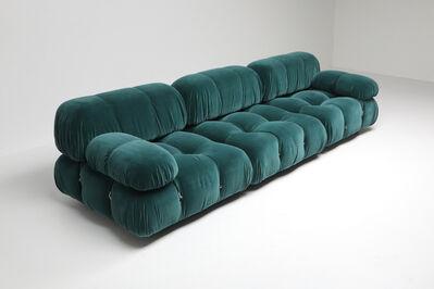 Mario Bellini, ''Camaleonda' Modular Sofa by Mario Bellini Reupholstered in Petrol Blue Velvet, 1970s', 1970s