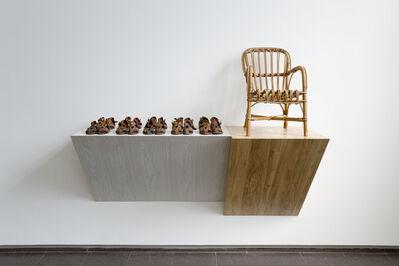 Haim Steinbach, 'Untitled (sandals, chair)', 1987