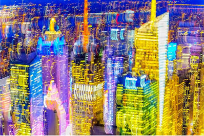 Mitchell Funk, 'Manhattan Skyline with Jerky Color', 2017