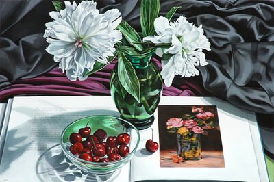 Sherrie Wolf, 'White Peonies with Cherries and Roses Dans un Vase', 2017