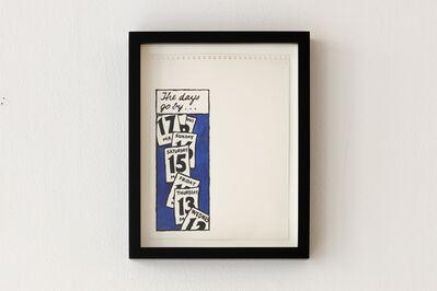 Dave Muller, 'Blue Calendar Fall', 1998