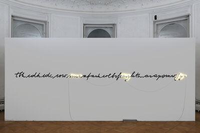 Brigitte Kowanz, 'tbhidkidciowimoafaikirlbifomghthasapomwfyi', 2020