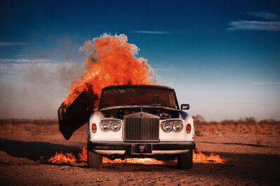 Tyler Shields, 'Rolls Royce on Fire', 2014