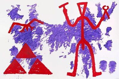 """A.R. Penck, '""""Zeichen der Realität-Realität der Zeichen (Sign of Reality – Reality of Signs)""""', 1981"""