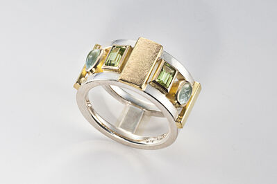 Janis Kerman, 'Aquamarine and Peridot Ring ', ca. 2016