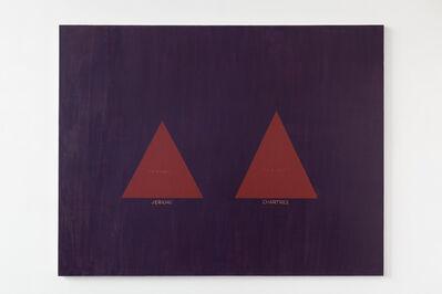 David Diao, 'Barnett Newman His Triangle Paintings', 2011