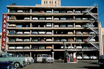 Marvin E. Newman, 'Parking Garage', 1955