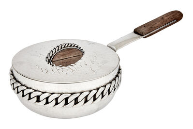 Jean Després, 'Silver Plated Copper and Wood Covered Saucepan'
