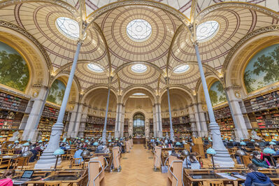 Richard Silver, 'Labroust Reading Room, Paris - color photography', 2018