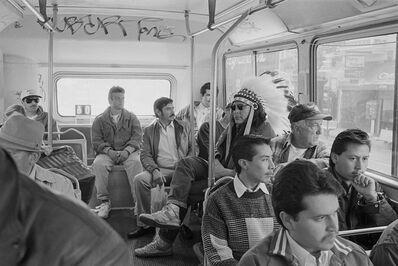 Zig Jackson, 'Indian on Mission Bus', 1994