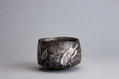 Randy Johnston, 'Tea bowl, coarse shino glaze with natural ash and iron brushwork', 2019