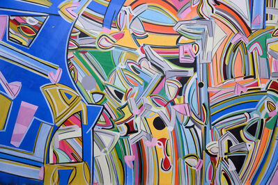 """Amit Kalla, 'Transending Forms, Abstract, Acrylic Painting, Bands of color by Indian Artist Amit Kalla """"In Stock""""', 2018"""